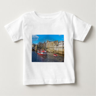 York Guildhall with river boat Tees