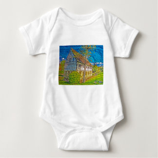 York Hospitium with added textures Baby Bodysuit
