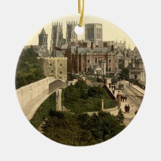 York I, Yorkshire, England Christmas Ornament