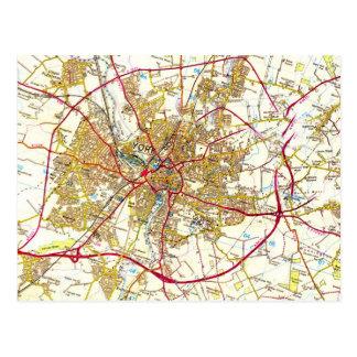York Map Postcard