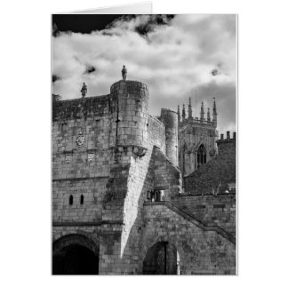 York Minster and Bootham Bar Card