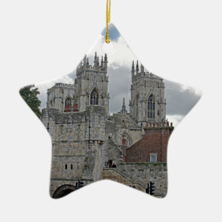 York Minster and Bootham Bar Ceramic Star Decoration