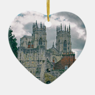 York Minster and Bootham Bar Christmas Ornament