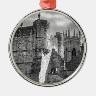 York Minster and Bootham Bar Silver-Colored Round Decoration