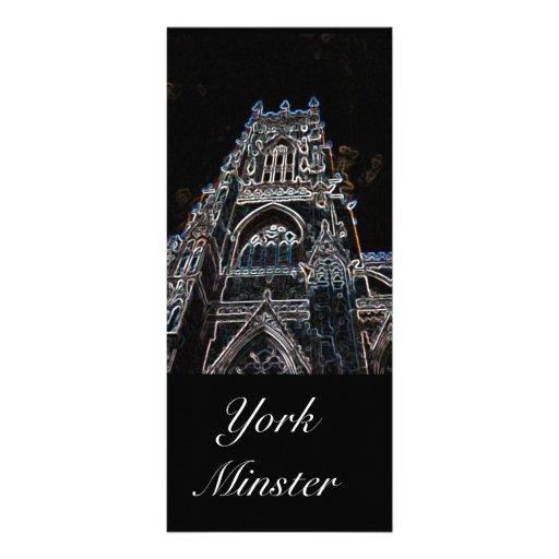 York Minster Black Bookmark Rack Card Design