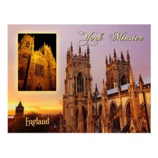 York Minster cathedral, York, England Postcard
