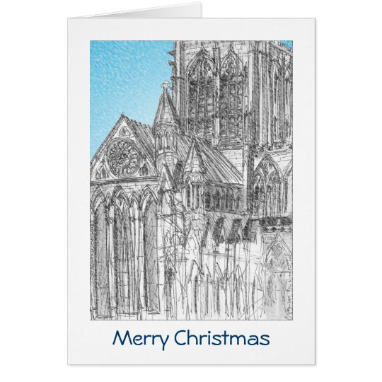 York Minster Christmas Card with GREETING
