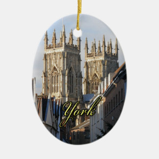 York Minster England Ceramic Oval Decoration