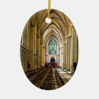 York Minster from inside. Christmas Ornament