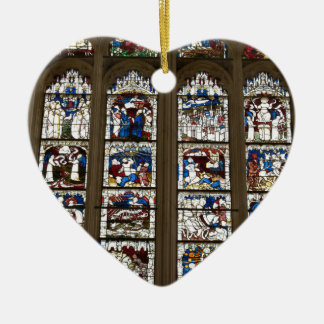 York Minster Great East Window. Ceramic Heart Decoration