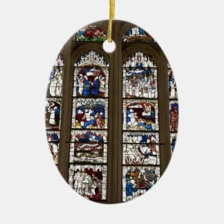 York Minster Great East Window. Ceramic Oval Decoration