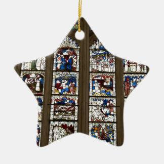 York Minster Great East Window. Ceramic Star Decoration
