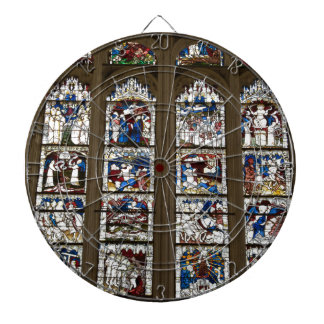 York Minster Great East Window. Dartboard With Darts
