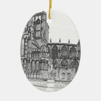 York Minster in the wide Ceramic Oval Decoration