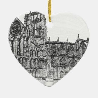 York Minster in the wide Christmas Ornament