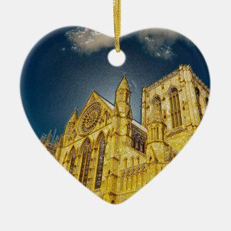 York Minster special effect Ceramic Heart Decoration