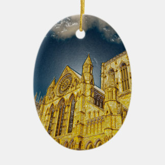 York Minster special effect Christmas Ornament