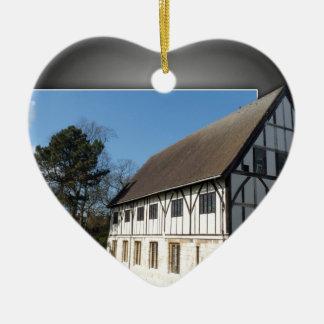 York,museum gardens,hospitium. ceramic heart decoration
