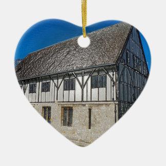 York,museum gardens,hospitium, plastic. ceramic heart decoration