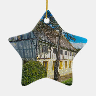 York,museum gardens,hospitium, plastic. christmas ornament