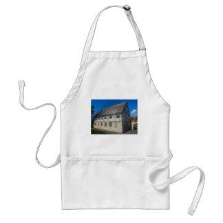 York,museum gardens,hospitium, plastic. standard apron