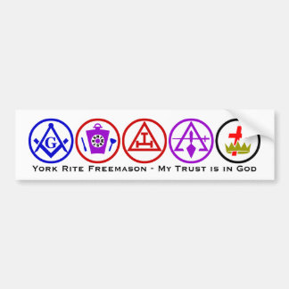 York Rite Trust in God Bumper Sticker