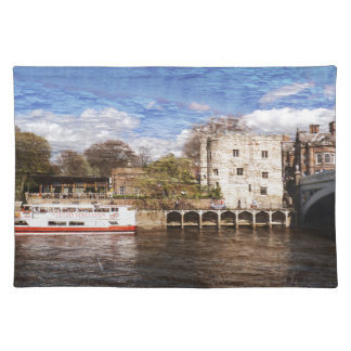York river Ouse on texture Placemat