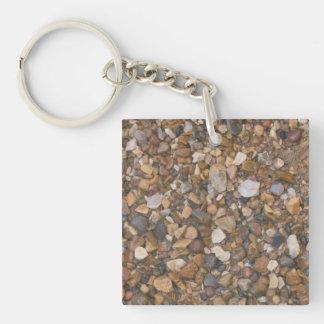 York Stone Gravel Single-Sided Square Acrylic Key Ring