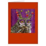 york the party owl card