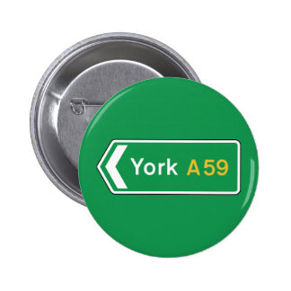 York, UK Road Sign Button