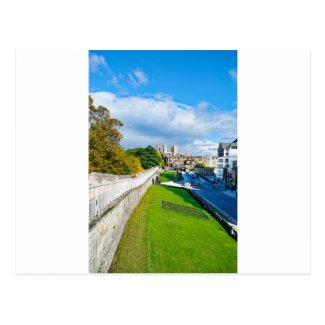 York Walls and Minster Postcard
