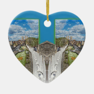 York Walls, the double take. Ceramic Heart Decoration
