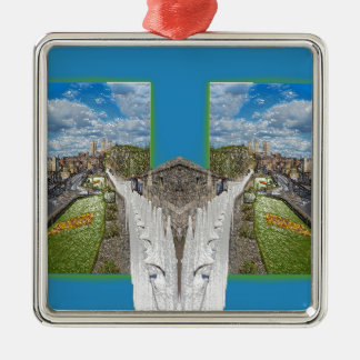 York Walls, the double take. Silver-Colored Square Decoration
