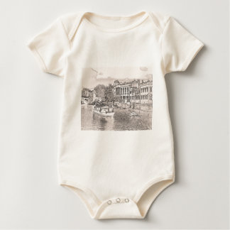 York with pencil and tint baby bodysuit