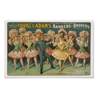 Yorke & Adams Bakers and Brokers The Pony Rosebuds Poster