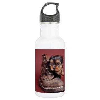 Yorkie and boot 532 ml water bottle