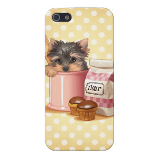 Yorkie and chocolate cupcakes iPhone 5 covers