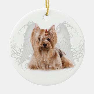 Yorkie Angel Christmas Ornament