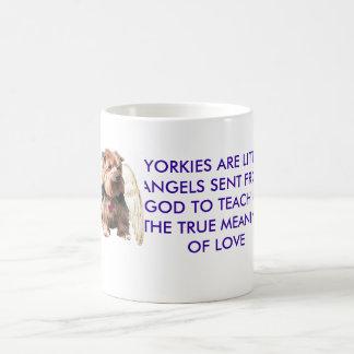Yorkie Angel Basic White Mug