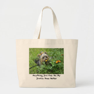 Yorkie Bag- A Yorkie Does it Better Large Tote Bag