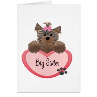 Yorkie Big Sister Greeting Card