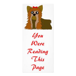 Yorkie Bookmark Template Rack Card Template