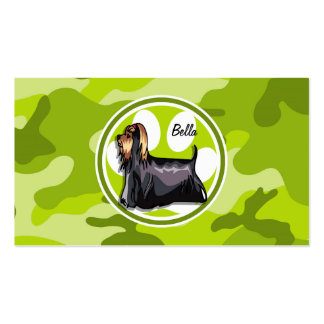 Yorkie bright green camo camouflage business card template