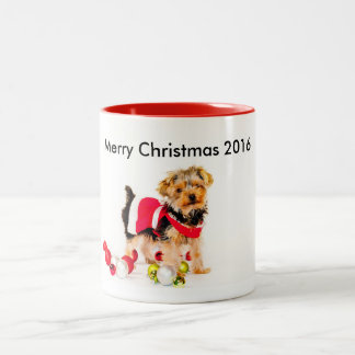 Yorkie Christmas Coffee Mug