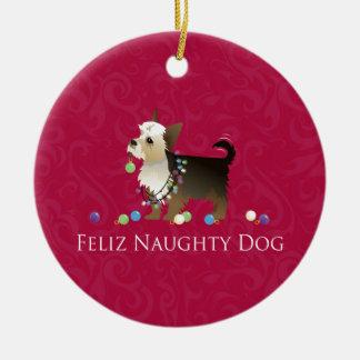 Yorkie Christmas Design Christmas Ornament