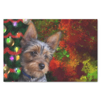 Yorkie Christmas Tissue Paper