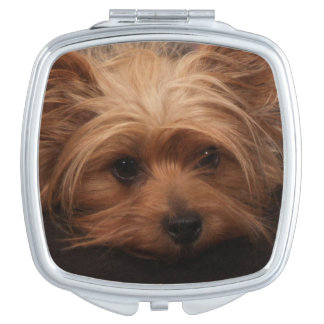 Yorkie Classic Pout Travel Mirrors