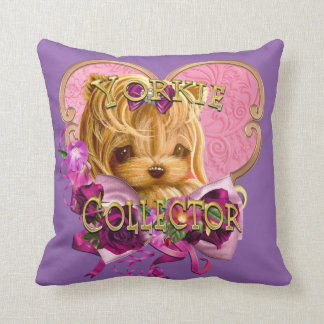Yorkie Collector Pretty in Pink Cushion