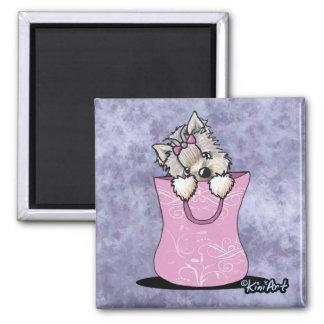 Yorkie Cuteness Square Magnet