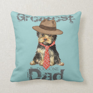 Yorkie Dad Cushion